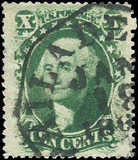 Values of US Stamps Scott 35: 1859 10c Washington. Regency-Superior, Jan 2015, Sale 109, Lot 613