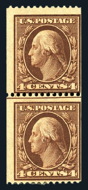 Price of US Stamps Scott Catalogue #350 - 4c 1910 Washington Coil. Harmer-Schau Auction Galleries, Aug 2015, Sale 106, Lot 1765