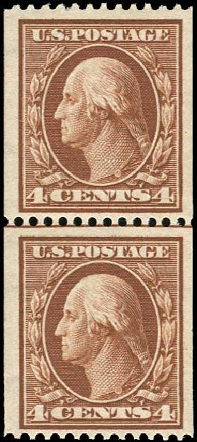Cost of US Stamps Scott 350: 1910 4c Washington Coil. Regency-Superior, Aug 2015, Sale 112, Lot 732