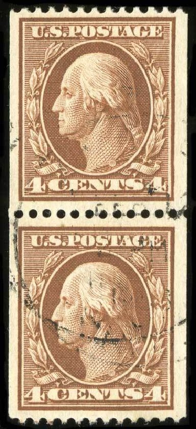 Costs of US Stamp Scott # 350 - 1910 4c Washington Coil. Spink Shreves Galleries, Jul 2015, Sale 151, Lot 262