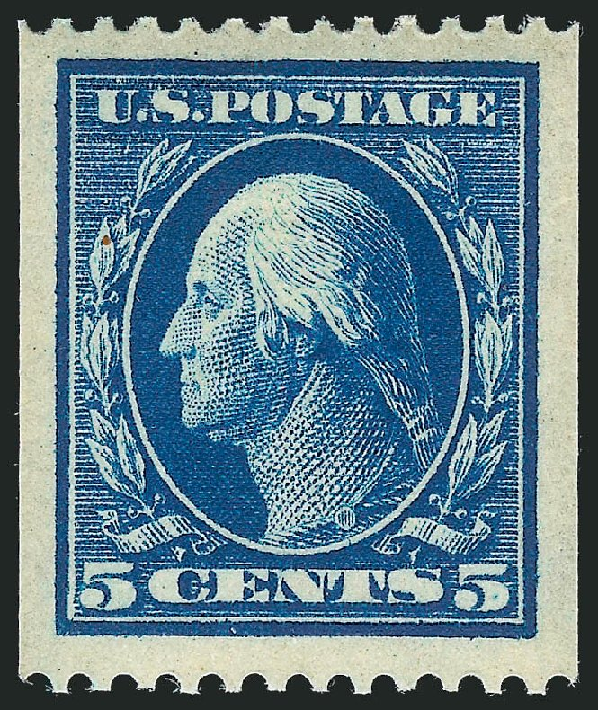 Values of US Stamp Scott #351: 1909 5c Washington Coil. Robert Siegel Auction Galleries, Feb 2015, Sale 1093, Lot 122