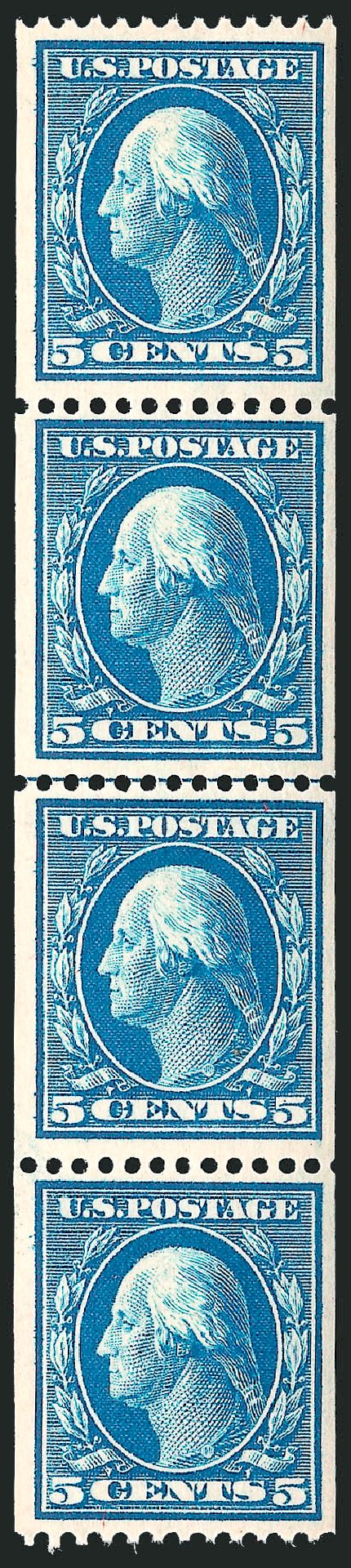 Costs of US Stamp Scott 351: 5c 1909 Washington Coil. Robert Siegel Auction Galleries, Feb 2015, Sale 1093, Lot 123
