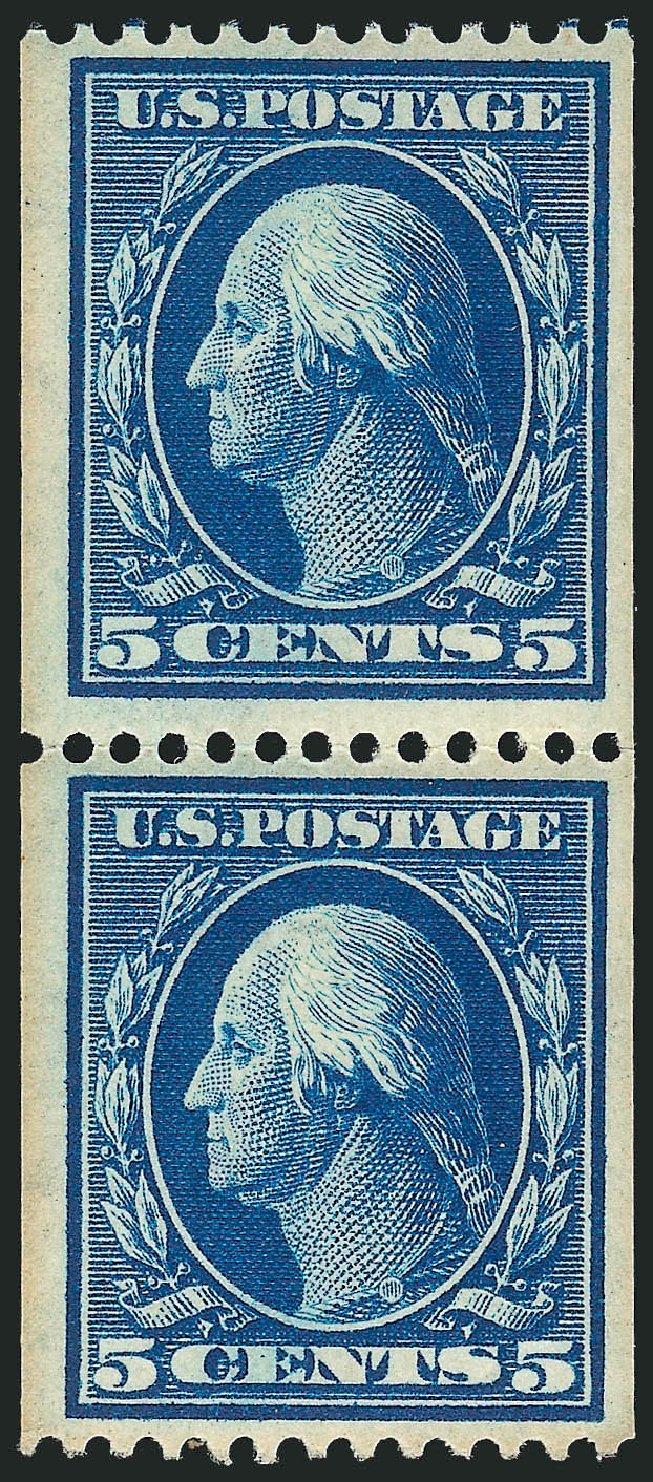 Cost of US Stamp Scott Catalogue #351 - 5c 1909 Washington Coil. Robert Siegel Auction Galleries, Apr 2015, Sale 1096, Lot 583