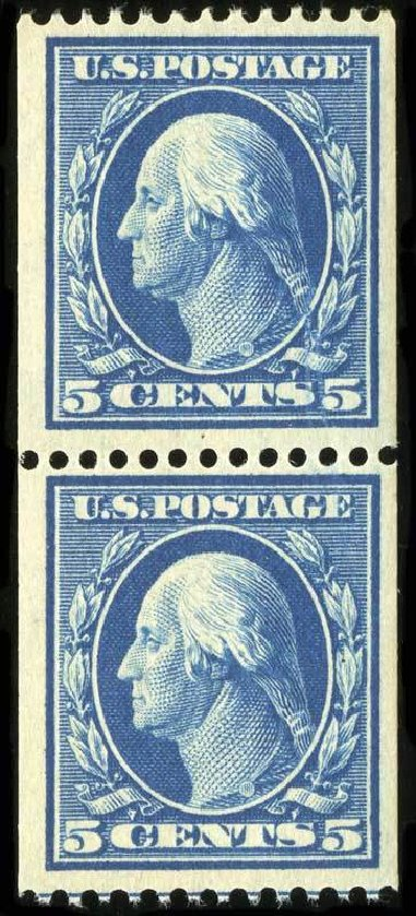 Costs of US Stamp Scott #351 - 1909 5c Washington Coil. Spink Shreves Galleries, Jul 2015, Sale 151, Lot 263