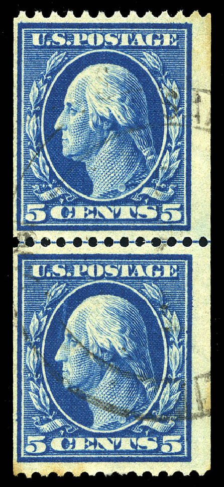 US Stamp Price Scott Catalogue 351 - 5c 1909 Washington Coil. Matthew Bennett International, Feb 2015, Sale 351, Lot 166