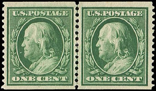 US Stamps Value Scott Catalogue 352 - 1c 1909 Franklin Coil. Regency-Superior, Nov 2014, Sale 108, Lot 737