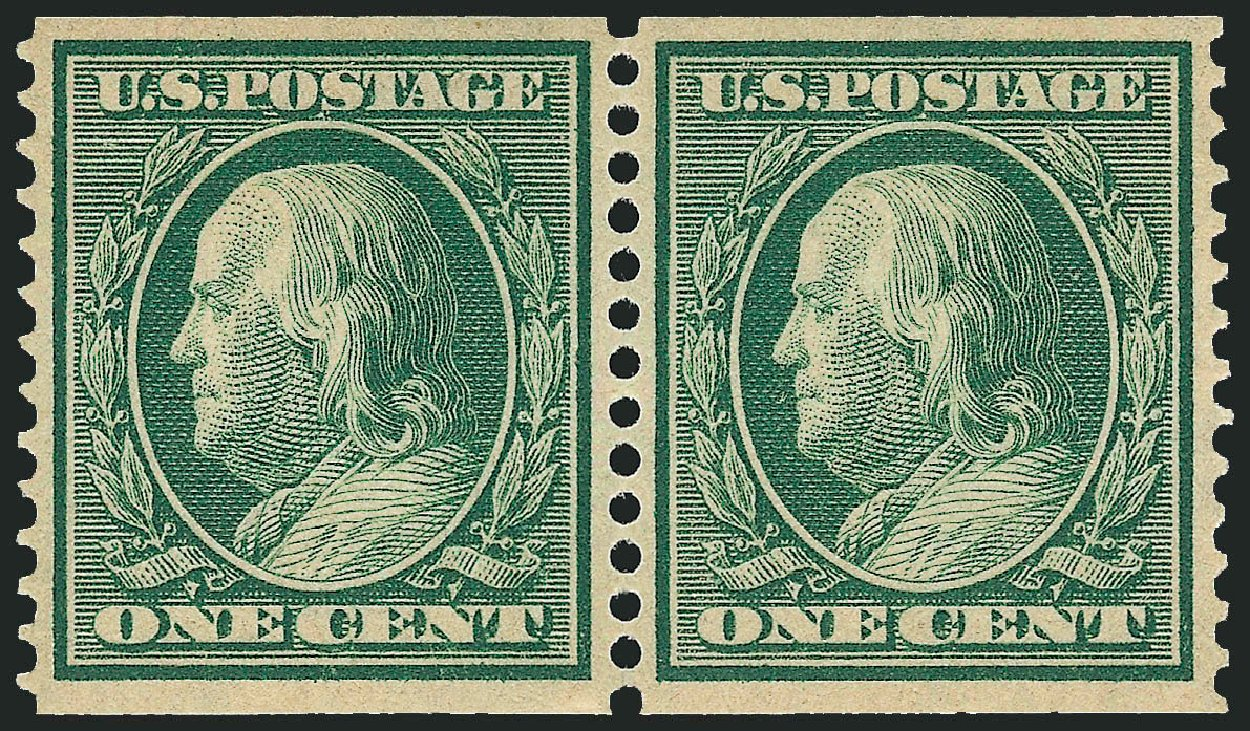 Prices of US Stamps Scott #352 - 1c 1909 Franklin Coil. Robert Siegel Auction Galleries, Feb 2015, Sale 1093, Lot 127