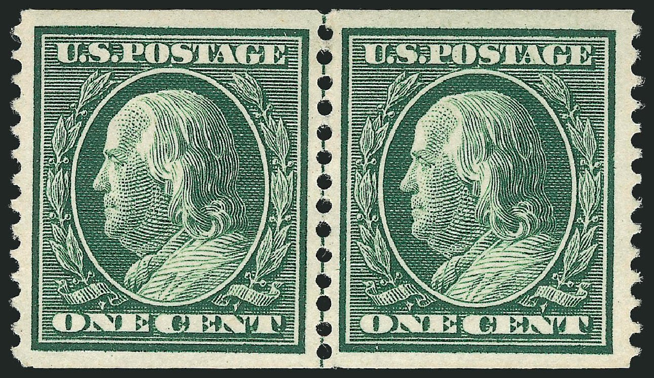 Prices of US Stamp Scott Cat. 352 - 1909 1c Franklin Coil. Robert Siegel Auction Galleries, Feb 2015, Sale 1093, Lot 128