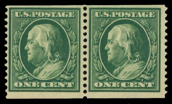 Price of US Stamps Scott Catalog # 352 - 1c 1909 Franklin Coil. Daniel Kelleher Auctions, May 2015, Sale 669, Lot 2904