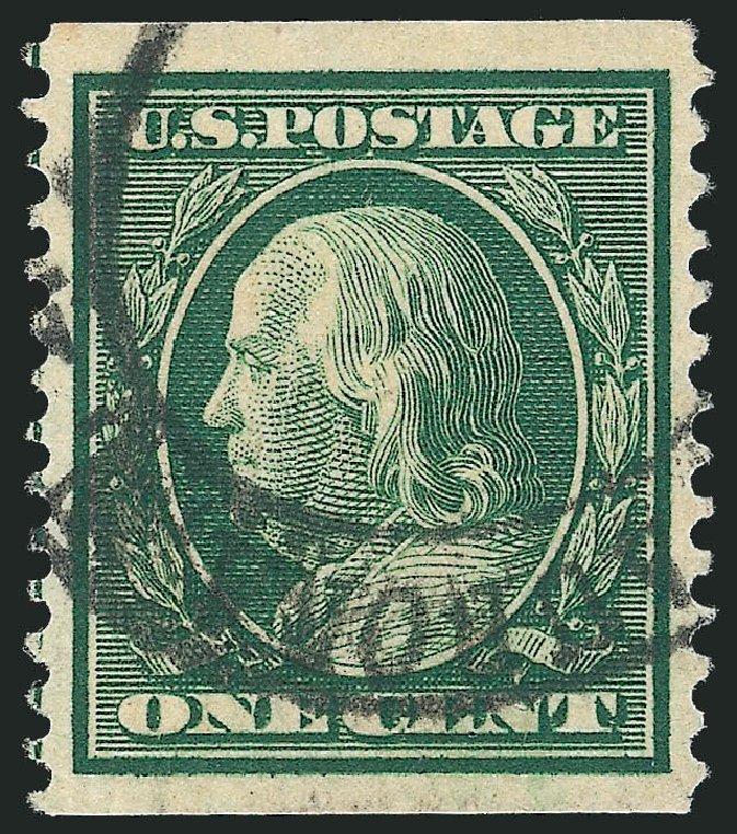 Us Stamp Value Scott Cat 352 1909 1c Franklin Coil