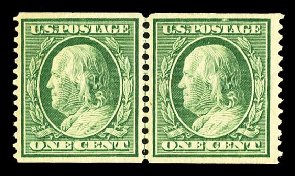 Cost of US Stamp Scott Catalog # 352: 1c 1909 Franklin Coil. Cherrystone Auctions, Jul 2015, Sale 201507, Lot 2123