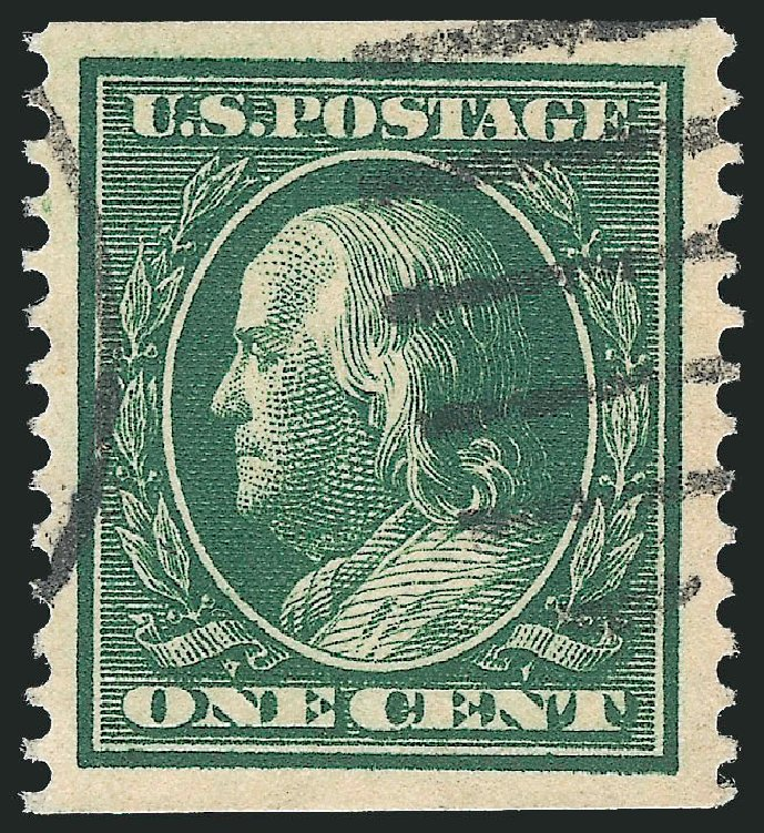 Prices of US Stamps Scott 352: 1909 1c Franklin Coil. Robert Siegel Auction Galleries, Dec 2014, Sale 1090, Lot 1466