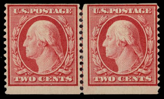 US Stamp Value Scott Catalogue 353: 2c 1909 Washington Coil. Daniel Kelleher Auctions, May 2015, Sale 669, Lot 2907