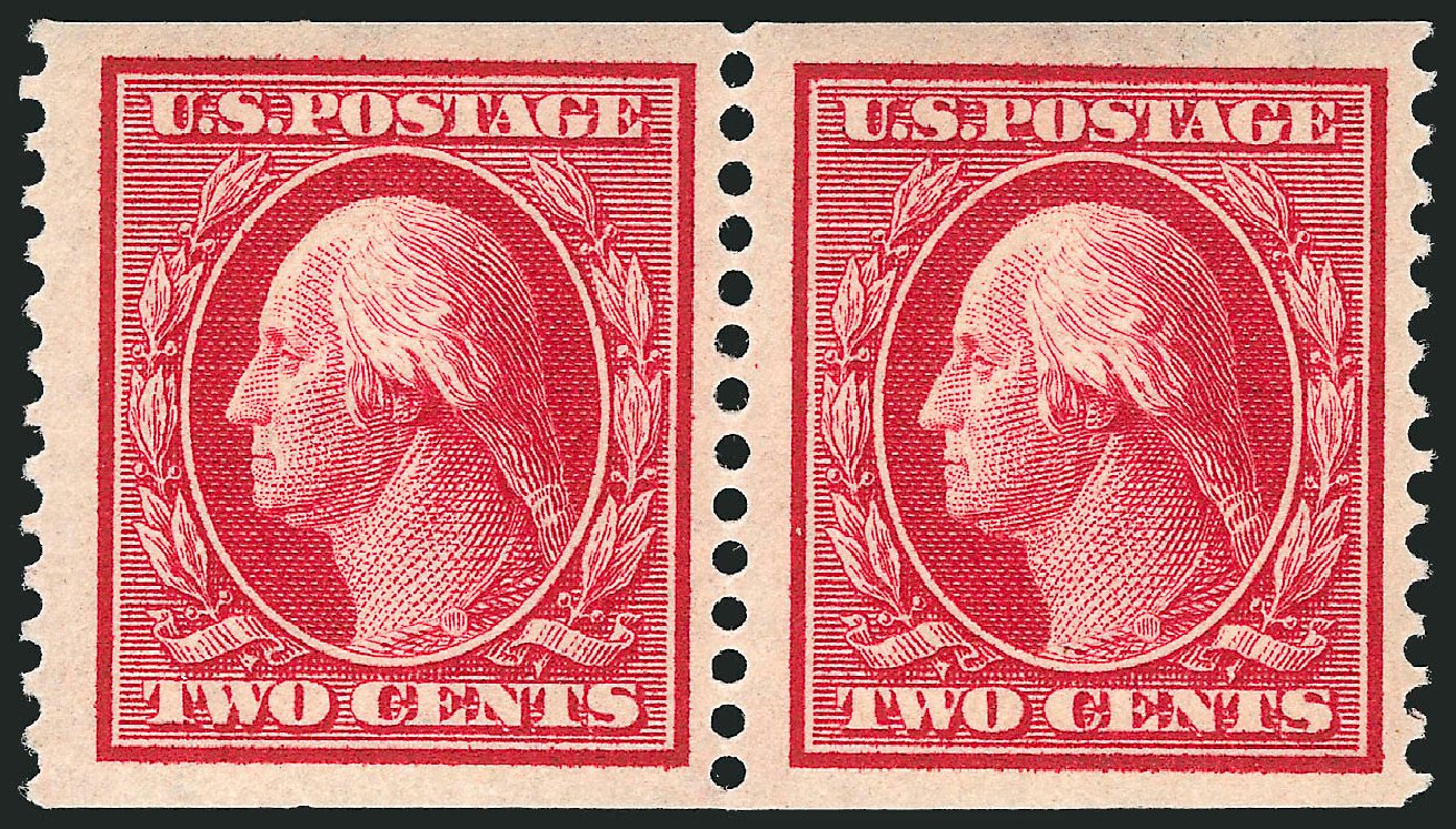 Cost of US Stamp Scott Catalog # 353 - 1909 2c Washington Coil. Robert Siegel Auction Galleries, Apr 2015, Sale 1096, Lot 587