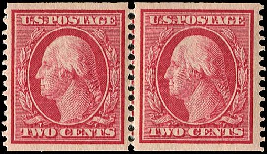 US Stamp Values Scott Catalogue 353 - 1909 2c Washington Coil. Regency-Superior, Nov 2014, Sale 108, Lot 738