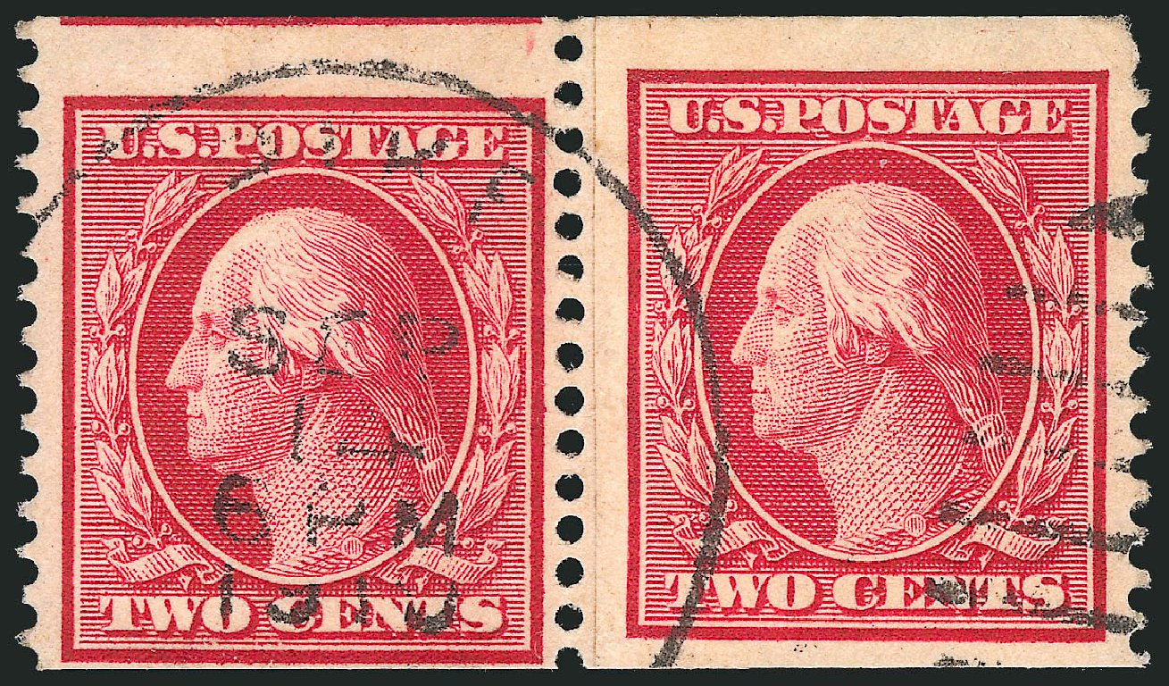 Price of US Stamps Scott 353: 2c 1909 Washington Coil. Robert Siegel Auction Galleries, Apr 2015, Sale 1096, Lot 588