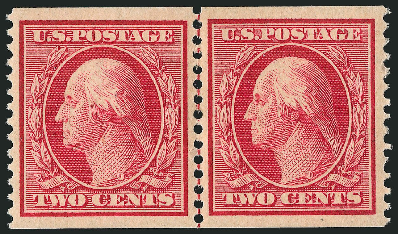 Value of US Stamp Scott # 353 - 2c 1909 Washington Coil. Robert Siegel Auction Galleries, Feb 2015, Sale 1093, Lot 130