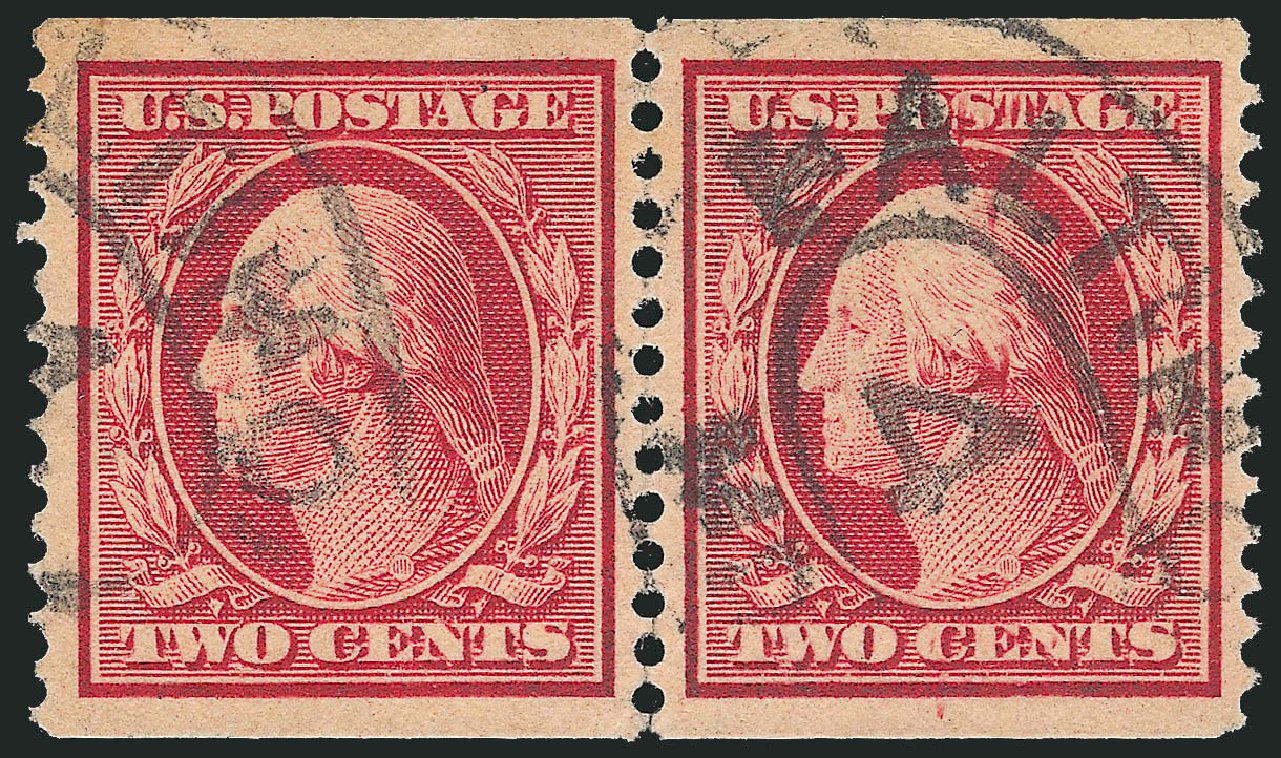 Cost of US Stamp Scott Cat. #353 - 1909 2c Washington Coil. Robert Siegel Auction Galleries, Feb 2015, Sale 1092, Lot 1284