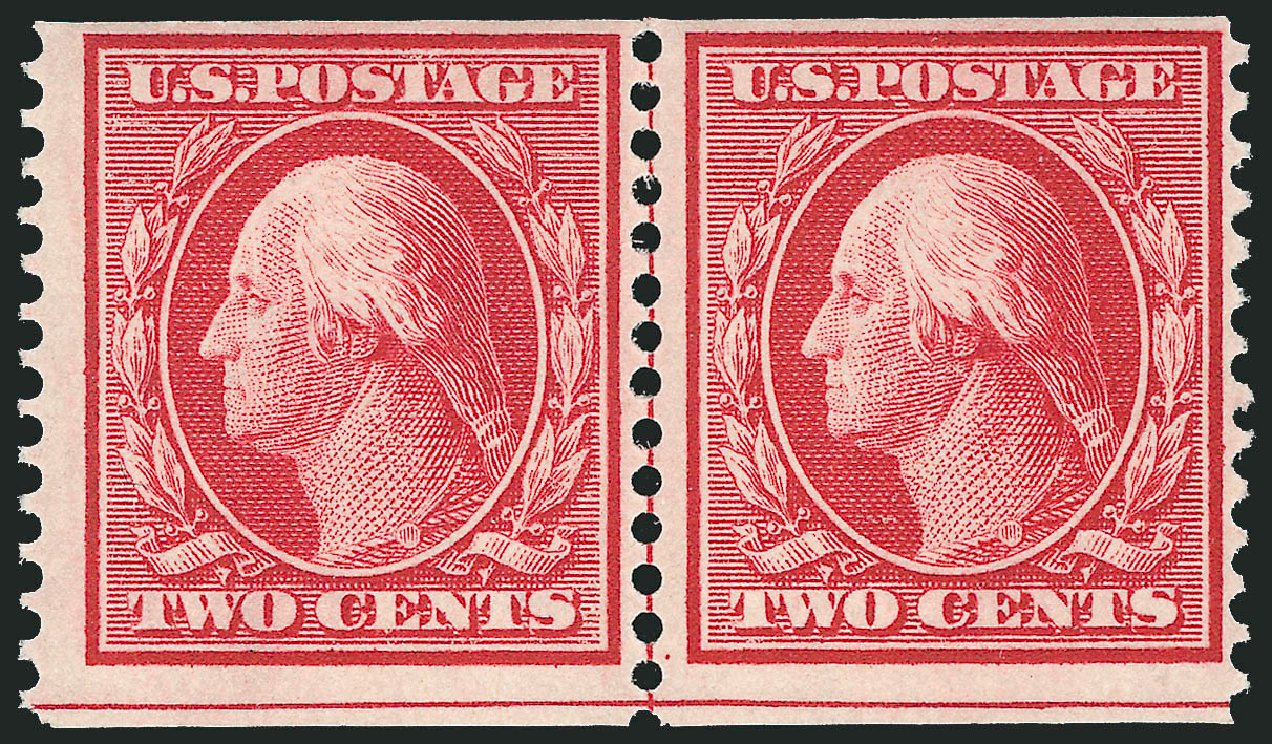 US Stamps Values Scott Catalogue #353 - 1909 2c Washington Coil. Robert Siegel Auction Galleries, Feb 2015, Sale 1093, Lot 132