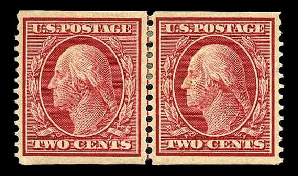Value of US Stamps Scott Catalogue #353 - 1909 2c Washington Coil. Harmer-Schau Auction Galleries, Aug 2015, Sale 106, Lot 1766