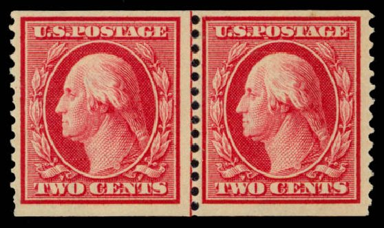 Costs of US Stamps Scott Catalog 353: 2c 1909 Washington Coil. Daniel Kelleher Auctions, May 2015, Sale 669, Lot 2906