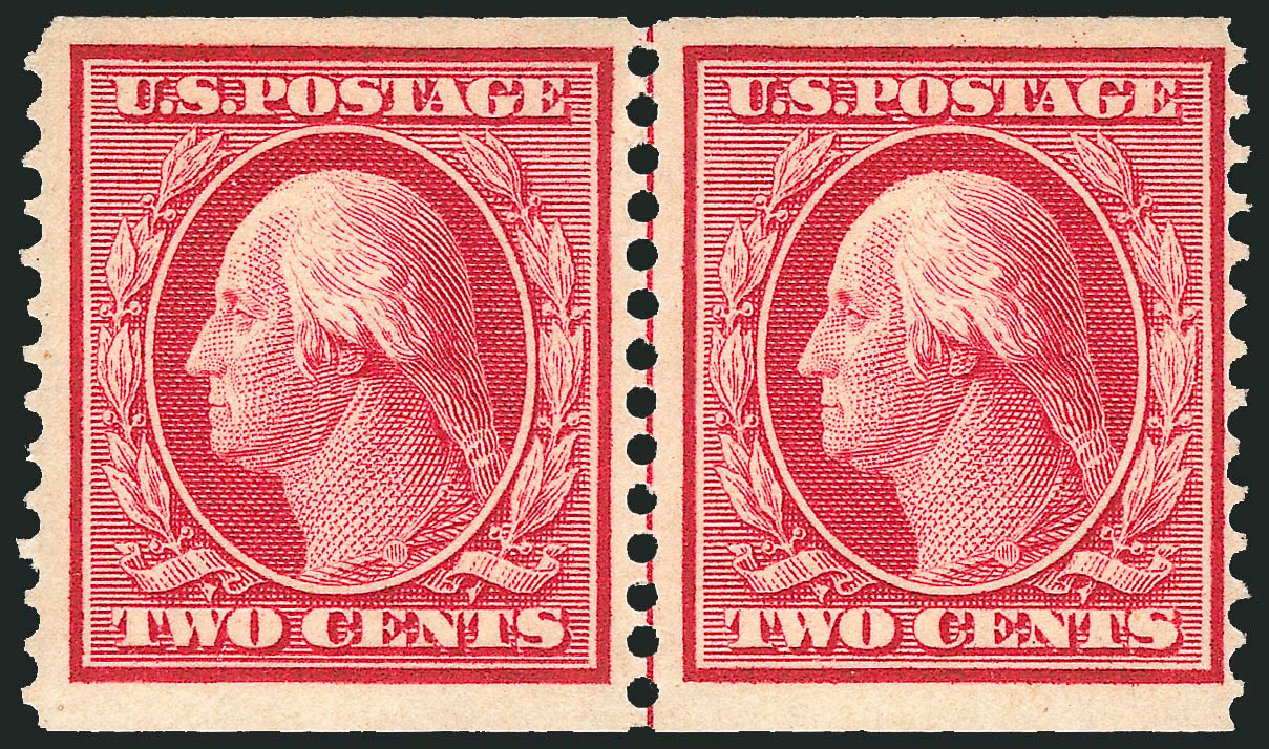 US Stamp Value Scott Cat. 353 - 1909 2c Washington Coil. Robert Siegel Auction Galleries, Apr 2015, Sale 1096, Lot 586
