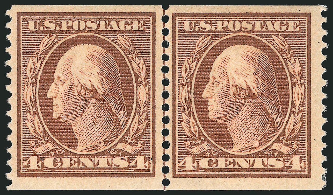 Costs of US Stamps Scott Catalogue # 354 - 4c 1909 Washington Coil. Robert Siegel Auction Galleries, Feb 2015, Sale 1093, Lot 138