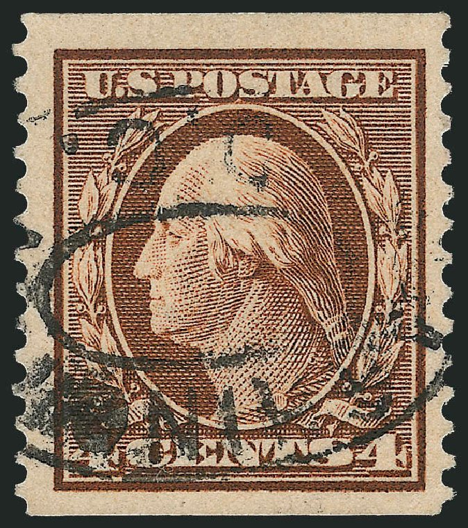 Costs of US Stamp Scott Cat. 354: 1909 4c Washington Coil. Robert Siegel Auction Galleries, Feb 2015, Sale 1093, Lot 139