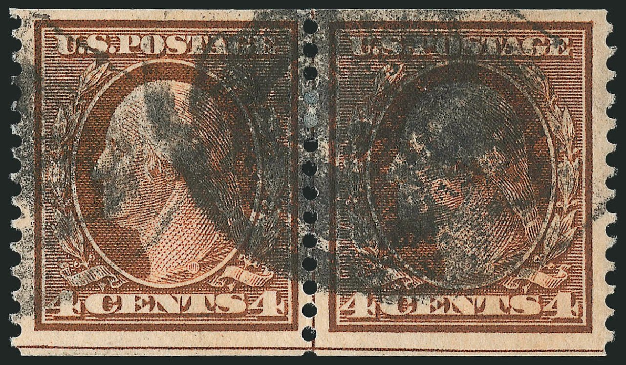 Costs of US Stamp Scott # 354 - 1909 4c Washington Coil. Robert Siegel Auction Galleries, Feb 2015, Sale 1093, Lot 140