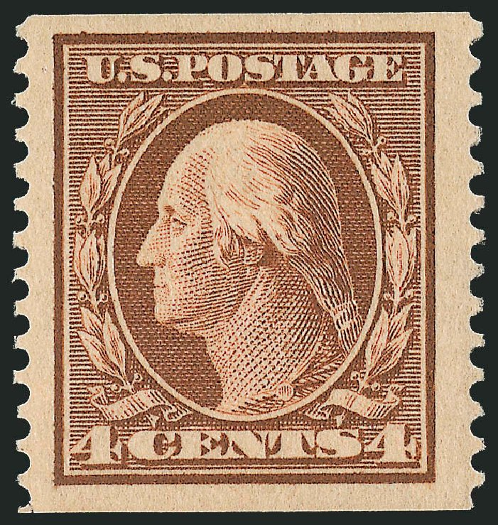 US Stamps Price Scott Catalogue #354 - 1909 4c Washington Coil. Robert Siegel Auction Galleries, Feb 2015, Sale 1093, Lot 135