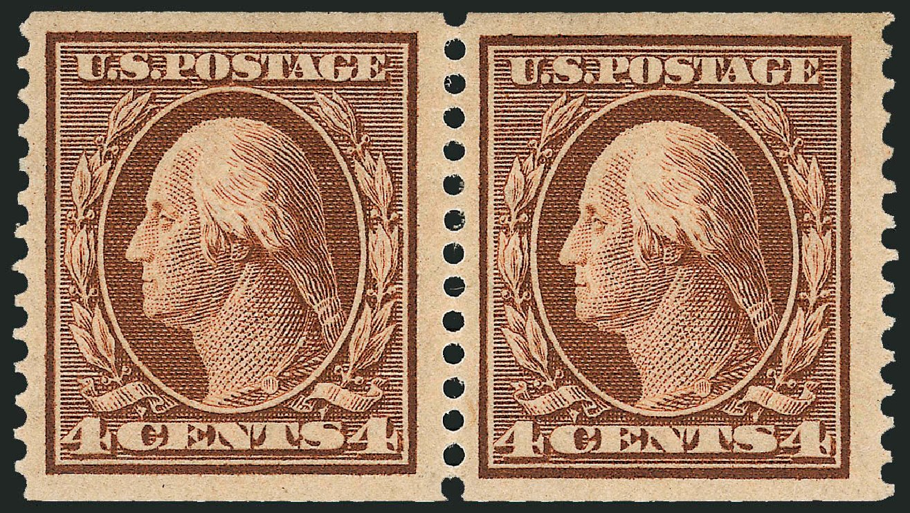 US Stamp Price Scott Catalog 354: 4c 1909 Washington Coil. Robert Siegel Auction Galleries, Feb 2015, Sale 1093, Lot 136