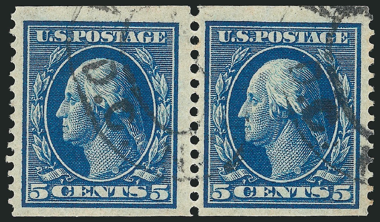 Cost of US Stamp Scott # 355: 5c 1909 Washington Coil. Robert Siegel Auction Galleries, Apr 2015, Sale 1096, Lot 593