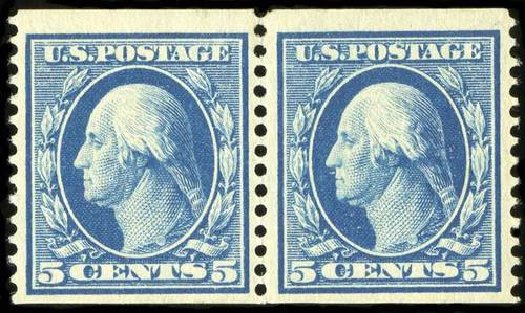 US Stamp Prices Scott Catalog # 355 - 1909 5c Washington Coil. Spink Shreves Galleries, Jul 2015, Sale 151, Lot 266