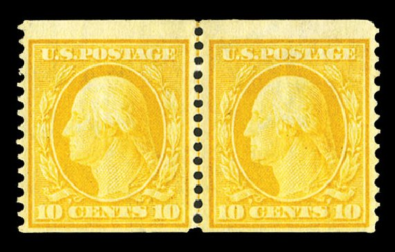 Cost of US Stamp Scott 356 - 1909 10c Washington Coil. Cherrystone Auctions, Jul 2015, Sale 201507, Lot 2127