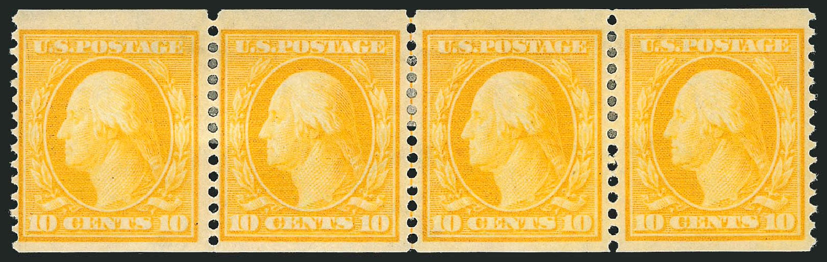 US Stamps Values Scott #356: 10c 1909 Washington Coil. Robert Siegel Auction Galleries, Feb 2015, Sale 1093, Lot 147