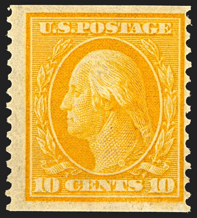 Prices of US Stamps Scott #356: 1909 10c Washington Coil. Robert Siegel Auction Galleries, Jul 2015, Sale 1107, Lot 428
