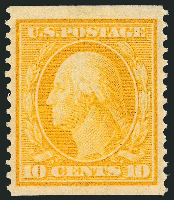Cost of US Stamps Scott 356 - 10c 1909 Washington Coil. Robert Siegel Auction Galleries, Feb 2015, Sale 1093, Lot 144