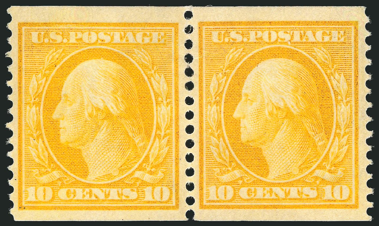 US Stamp Price Scott Cat. # 356: 1909 10c Washington Coil. Robert Siegel Auction Galleries, Apr 2015, Sale 1096, Lot 594