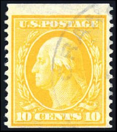 Prices of US Stamp Scott #356: 1909 10c Washington Coil. Schuyler J. Rumsey Philatelic Auctions, Apr 2015, Sale 60, Lot 2345
