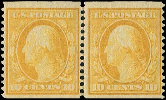 Value of US Stamps Scott Catalog # 356 - 1909 10c Washington Coil. Regency-Superior, Aug 2015, Sale 112, Lot 736