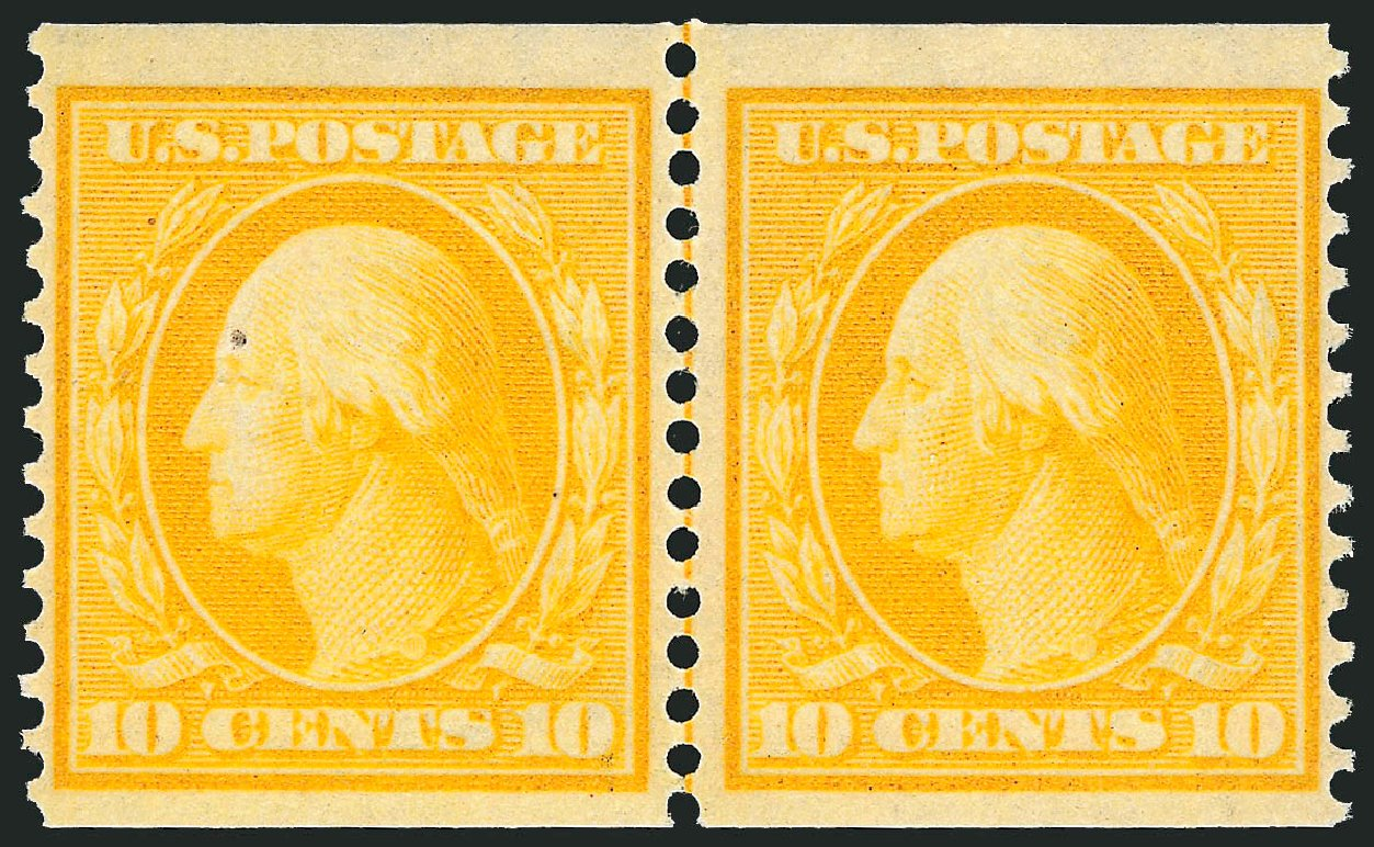US Stamps Prices Scott Catalog #356: 1909 10c Washington Coil. Robert Siegel Auction Galleries, Feb 2015, Sale 1093, Lot 146