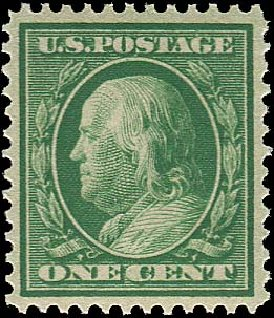 Prices of US Stamps Scott Catalog # 357 - 1909 1c Franklin Bluish Paper. Regency-Superior, Aug 2015, Sale 112, Lot 737