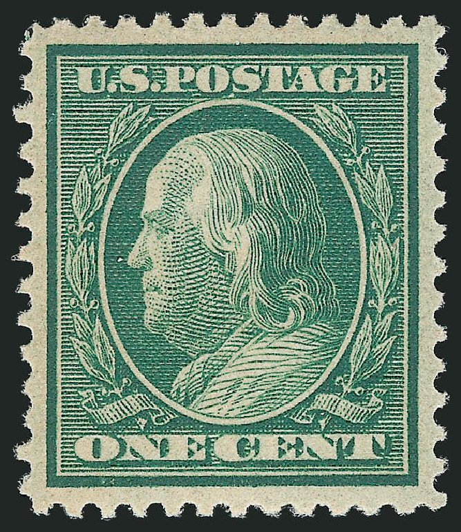 US Stamp Prices Scott Cat. # 357: 1c 1909 Franklin Bluish Paper. Robert Siegel Auction Galleries, Apr 2015, Sale 1096, Lot 597
