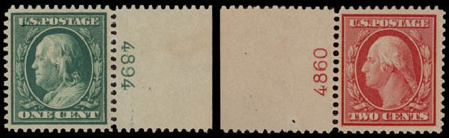 US Stamp Value Scott # 357: 1909 1c Franklin Bluish Paper. Daniel Kelleher Auctions, May 2015, Sale 669, Lot 2914