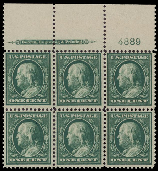 Costs of US Stamps Scott Catalogue # 357: 1c 1909 Franklin Bluish Paper. Daniel Kelleher Auctions, May 2015, Sale 669, Lot 2915