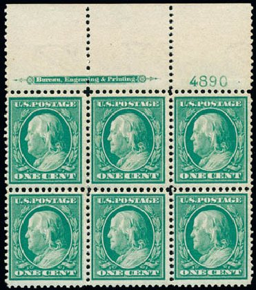 Prices of US Stamps Scott Catalog # 357: 1c 1909 Franklin Bluish Paper. Schuyler J. Rumsey Philatelic Auctions, Apr 2015, Sale 60, Lot 2912