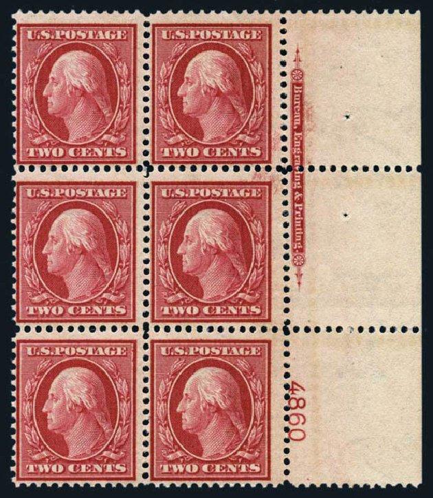 US Stamps Prices Scott #358: 1909 2c Washington Bluish Paper. Harmer-Schau Auction Galleries, Aug 2014, Sale 102, Lot 1988