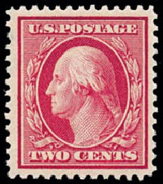 US Stamps Value Scott Catalogue #358: 2c 1909 Washington Bluish Paper. Schuyler J. Rumsey Philatelic Auctions, Apr 2015, Sale 60, Lot 2348