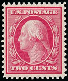 US Stamp Price Scott Catalogue # 358 - 1909 2c Washington Bluish Paper. Schuyler J. Rumsey Philatelic Auctions, Apr 2015, Sale 60, Lot 2349
