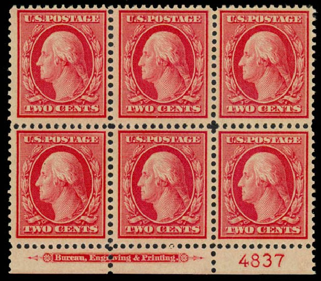 Prices of US Stamp Scott #358 - 2c 1909 Washington Bluish Paper. Daniel Kelleher Auctions, Sep 2013, Sale 639, Lot 3460